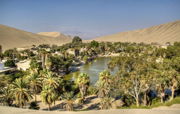 Huacachina, a desert oasis in southern Peru.