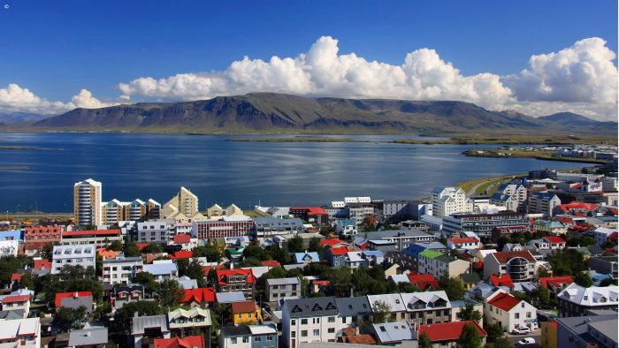 Reykjavic waterfront and cityscape, Iceland