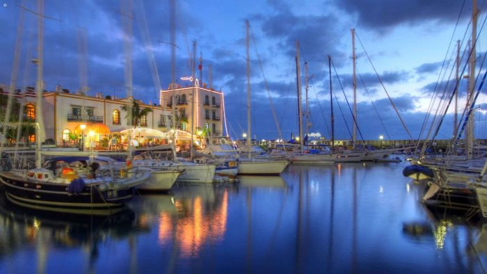 Boats in the port, Gran Canaria, The Canary Islands, Spain