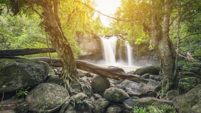 Waterfall, Belize.