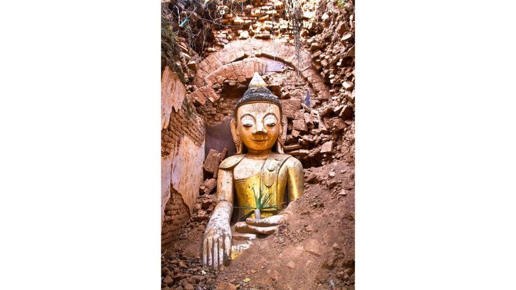Shwe Inn Thein Pagodas of Indein, Myanmar