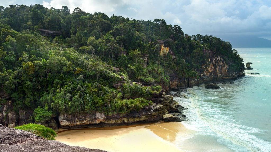 The beach of Bako National Park