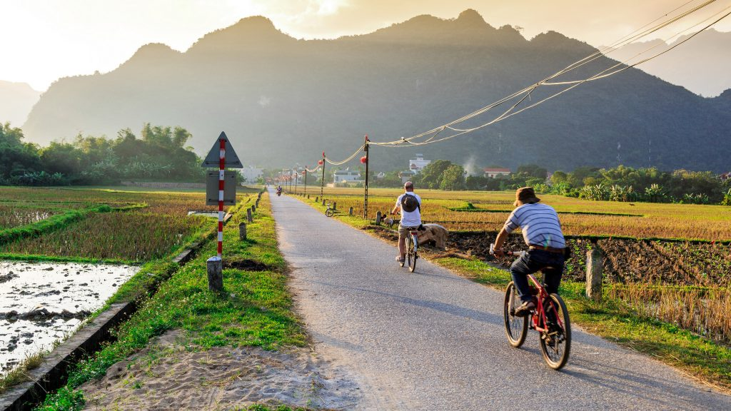 Image result for cycling in mai chau