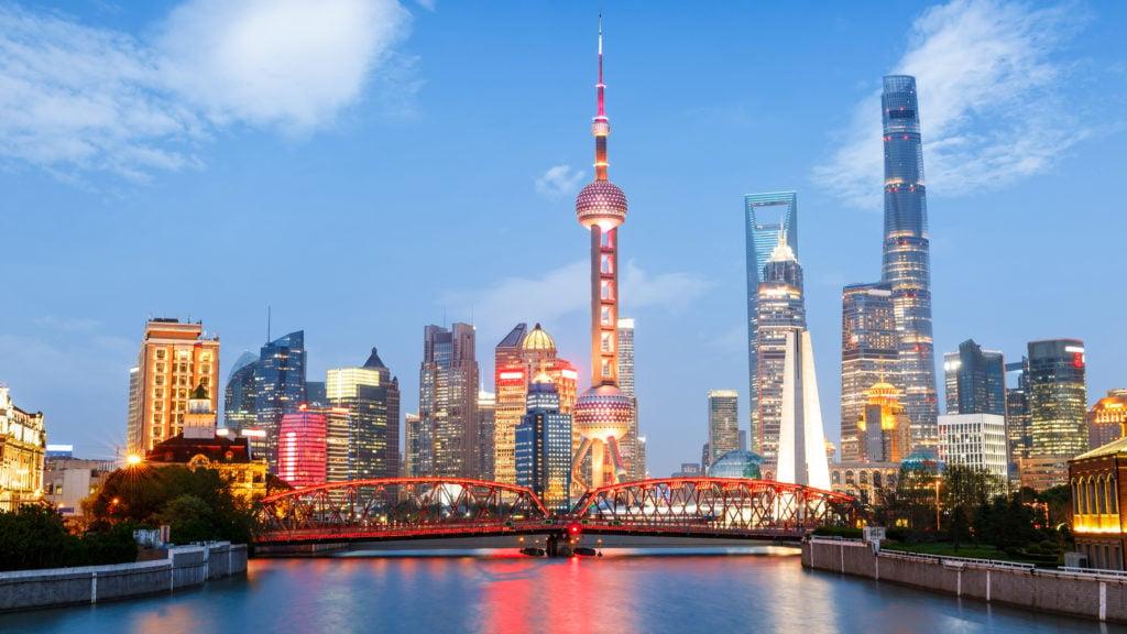 The modern skyline of Shanghai
