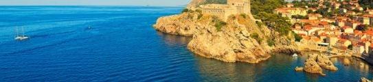 Dubrovnik City and Sea Panorama