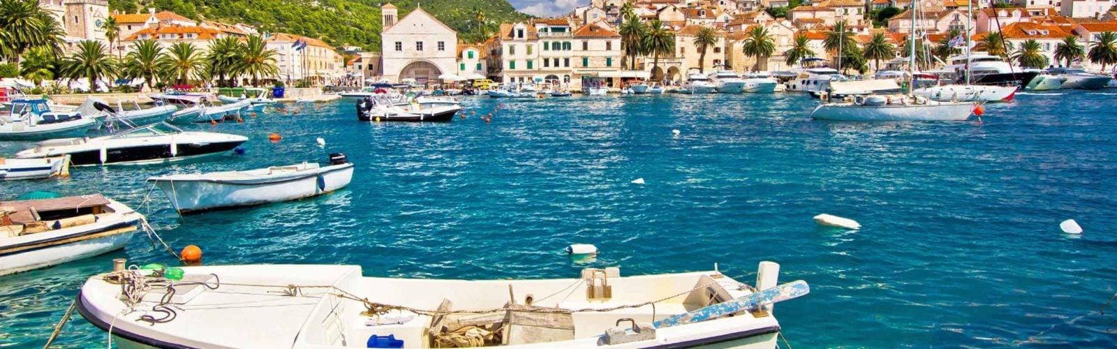 Hvar waterfront, Croatia.
