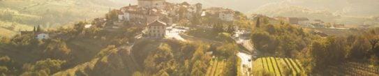 View of the little village in Goriska Brda, Slovenia