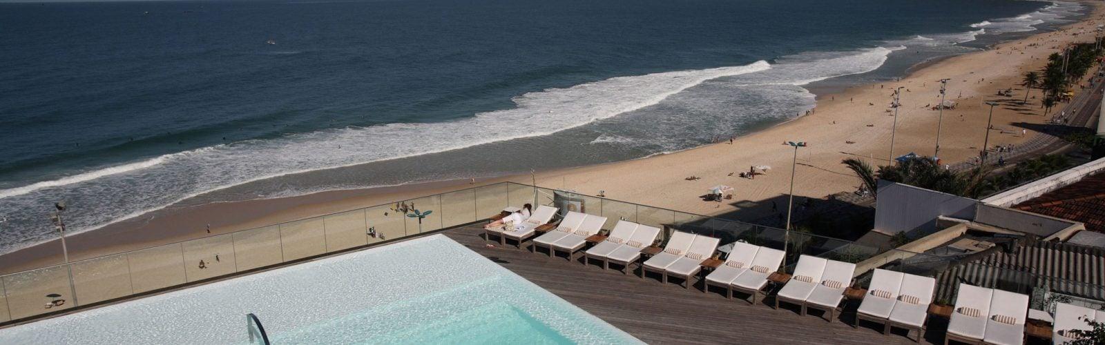 The pool at Fasano Rio, Rio de Janeiro, Brazil