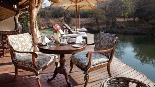 Chairs and table, Zulu Camp, Shambala, Limpopo Province, South Africa