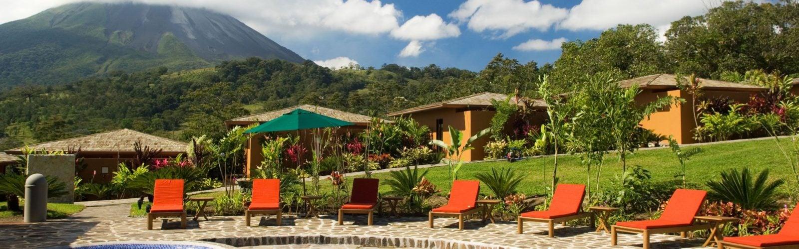 The pool at Nayara Hotel and Gardens, Arenal, Costa Rica