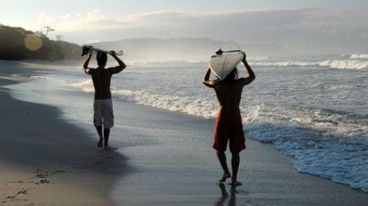 Surfers at Florblanca, Nicoya Peninsula, Costa Rica