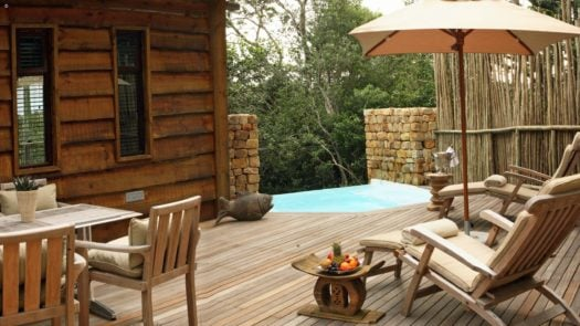 Pool deck, Tsala Treetop Lodge, The Garden Route, South Africa