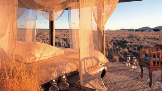 Canopy Bed Private Camp Wolwedans Namibrand Nature Reserve Namibia