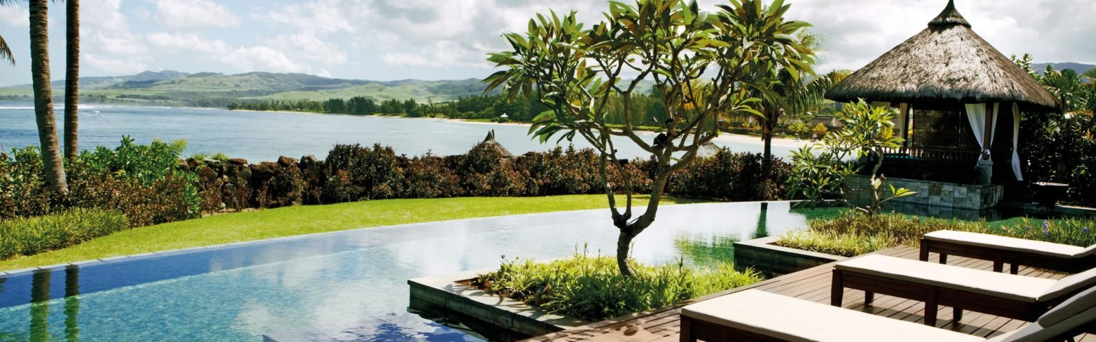 Presidential Villa pool and terrace, Shanti Maurice, Mauritius, Africa