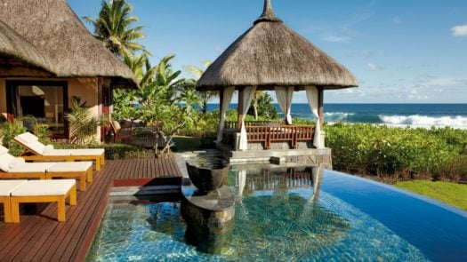 Pool and sundeck, Two bedroom villa, Shanti Maurice, Mauritius