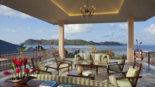 Terrace, Raffles Praslin, Praslin Island, The Seychelles