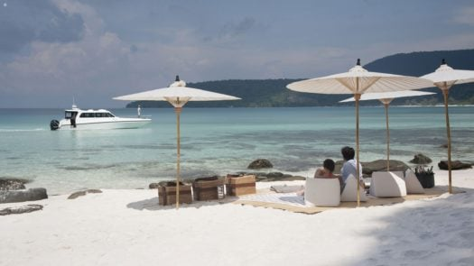 Picnic on the beach of a neighbouring island, Song Saa Private Island Resort, Cambodia