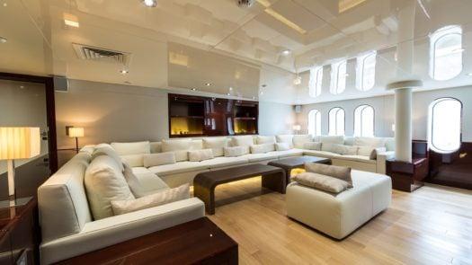 Guest salon, M/Y Enigma XK Private Charter Yacht, Antarctica