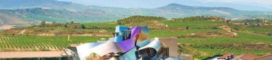 Exterior view, Hotel Marques de Riscal, La Rioja, Spain