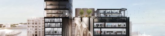 Exterior view of the Zeitz MOCAA, Cape Town, South Africa