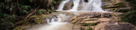 Waterfall in the Oudomxay province of Laos