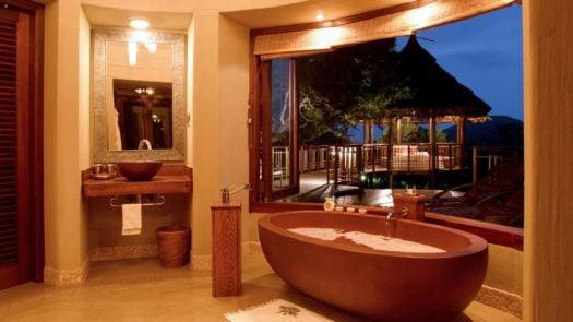 Bathroom interior, Thanda Safari Lodge, The Elephant Coast, South Africa
