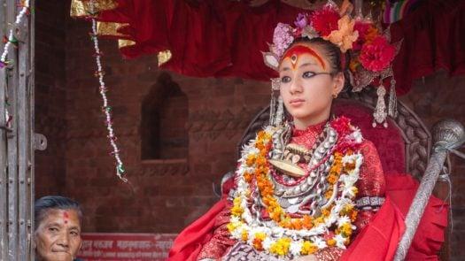 Kumari Girl Costume Nepal