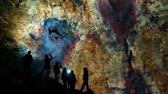 Inside the Cave of Volcano