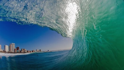 Wave Surfing South Africa Durban