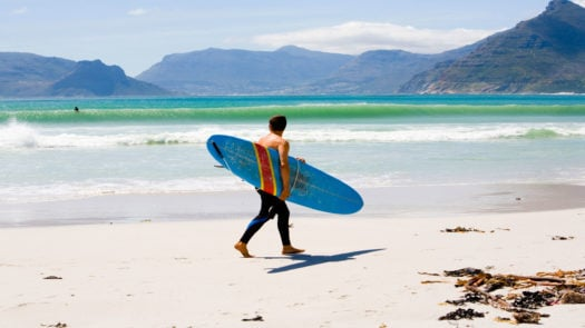 Surfer Hout Bay South Africa