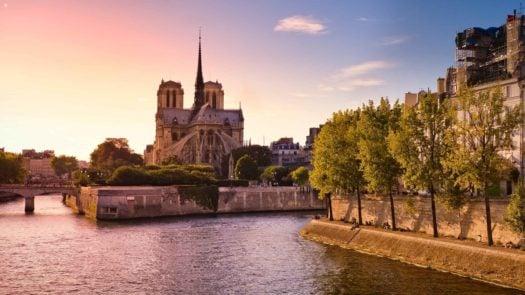 Notre Dame, Paris, Twilight