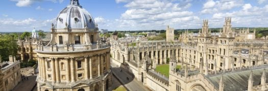 Aerial view of Oxford and the Bodleian Library, England, UK