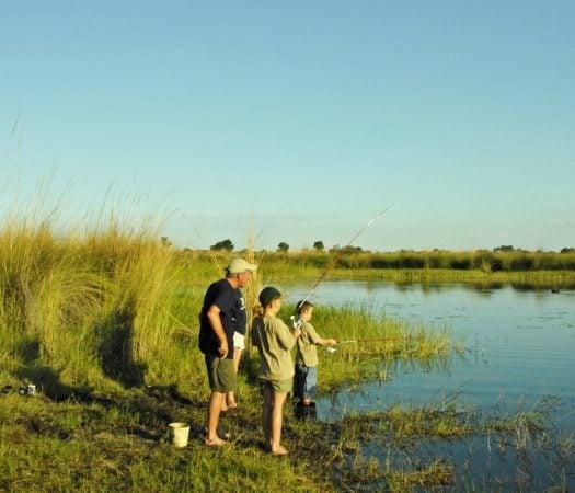Guide and family fishing safari