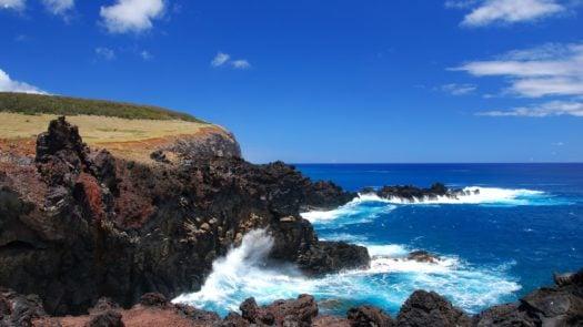 Stunning bay on Easter Island/Rapa Nui, Chile