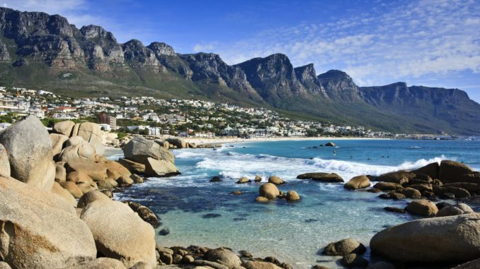 The coast by Ocean Road, Cape Town, South Africa
