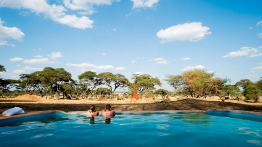 The pool area at Swala Camp, Tanzania