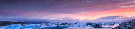 Iceberg dramatic skyline