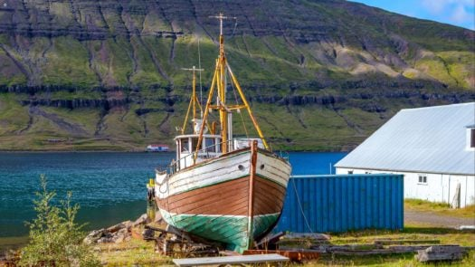 A small fishing village, Seydisfjordur, Iceland