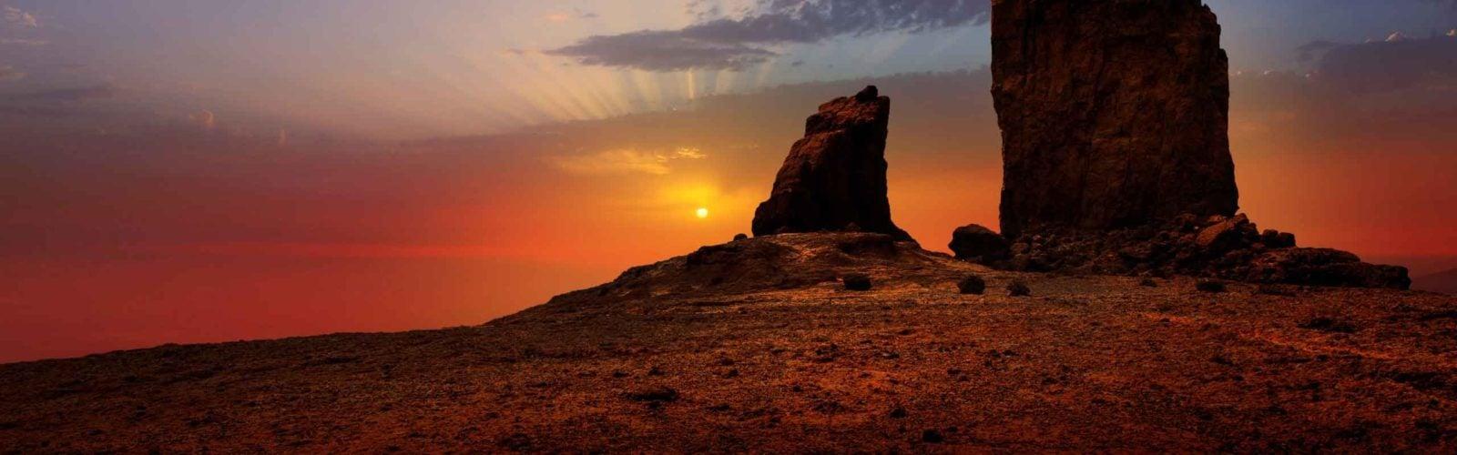 Desert landscape, Gran Canaria, The Canary Islands, Spain