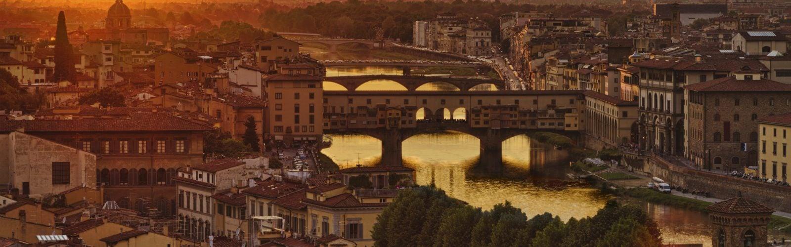 panorama Florence sunset