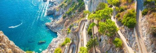 Roads along the Capri Coast