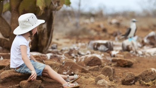 Little girl on the Galapagos