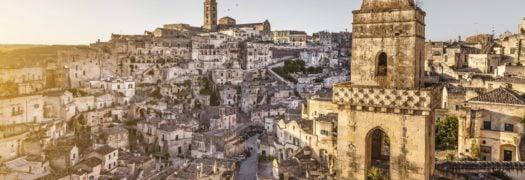 Matera, Italy skyline