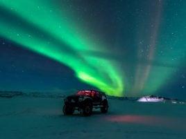 Northern Lights Iceland Jeep