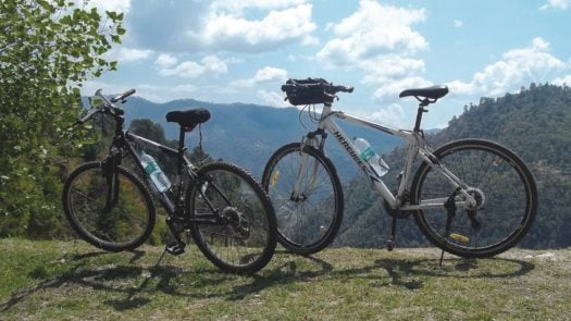 Bicycles on the mountainside