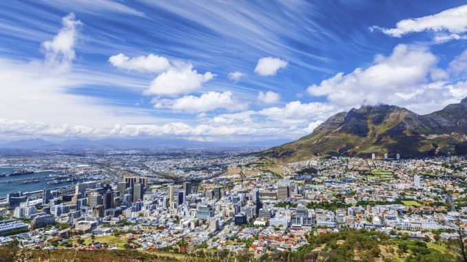 Cape Town city view South Africa