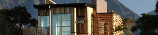 Exterior view, Hapuku Lodge and Tree Houses, Kaikoura, New Zealand