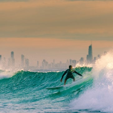 Surfing on the Gold Coast