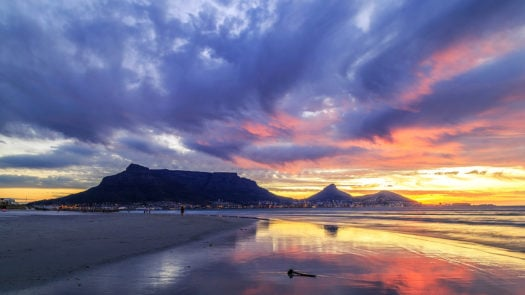 Radiant sunset in Cape Town