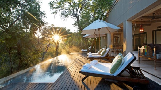 Sunset at the Royal Malewane, South Africa.